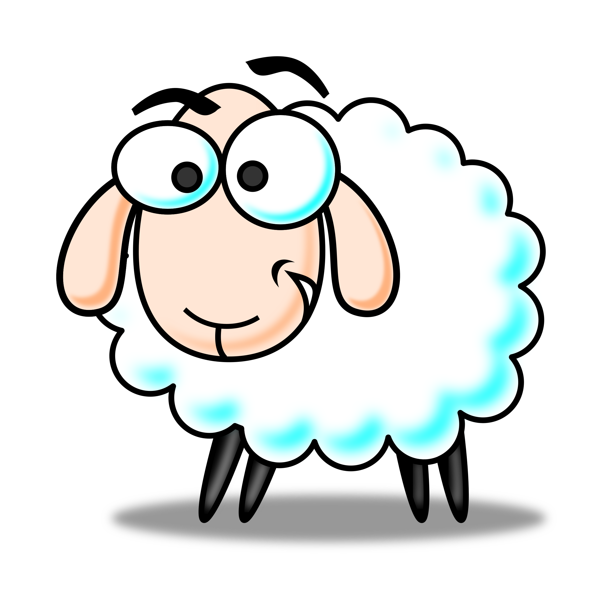 Sheep clipart colored sheep. Eid color big image