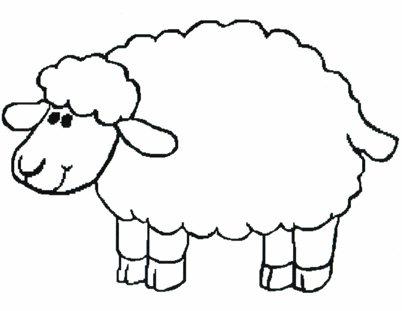 Sheep clipart colored sheep. Black and white cilpart