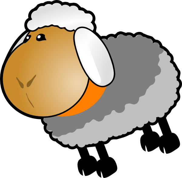 Sheep clipart colored sheep. Grey yellow clip art