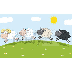 Sheep clipart three. Royalty free rf illustration