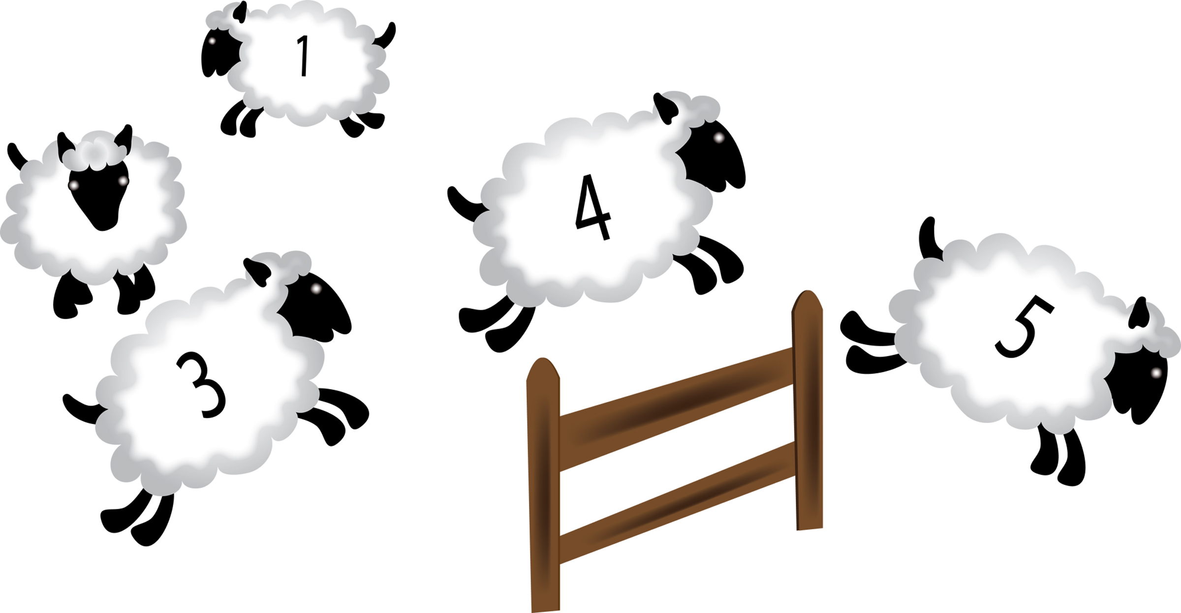Sheep clipart three. Counting