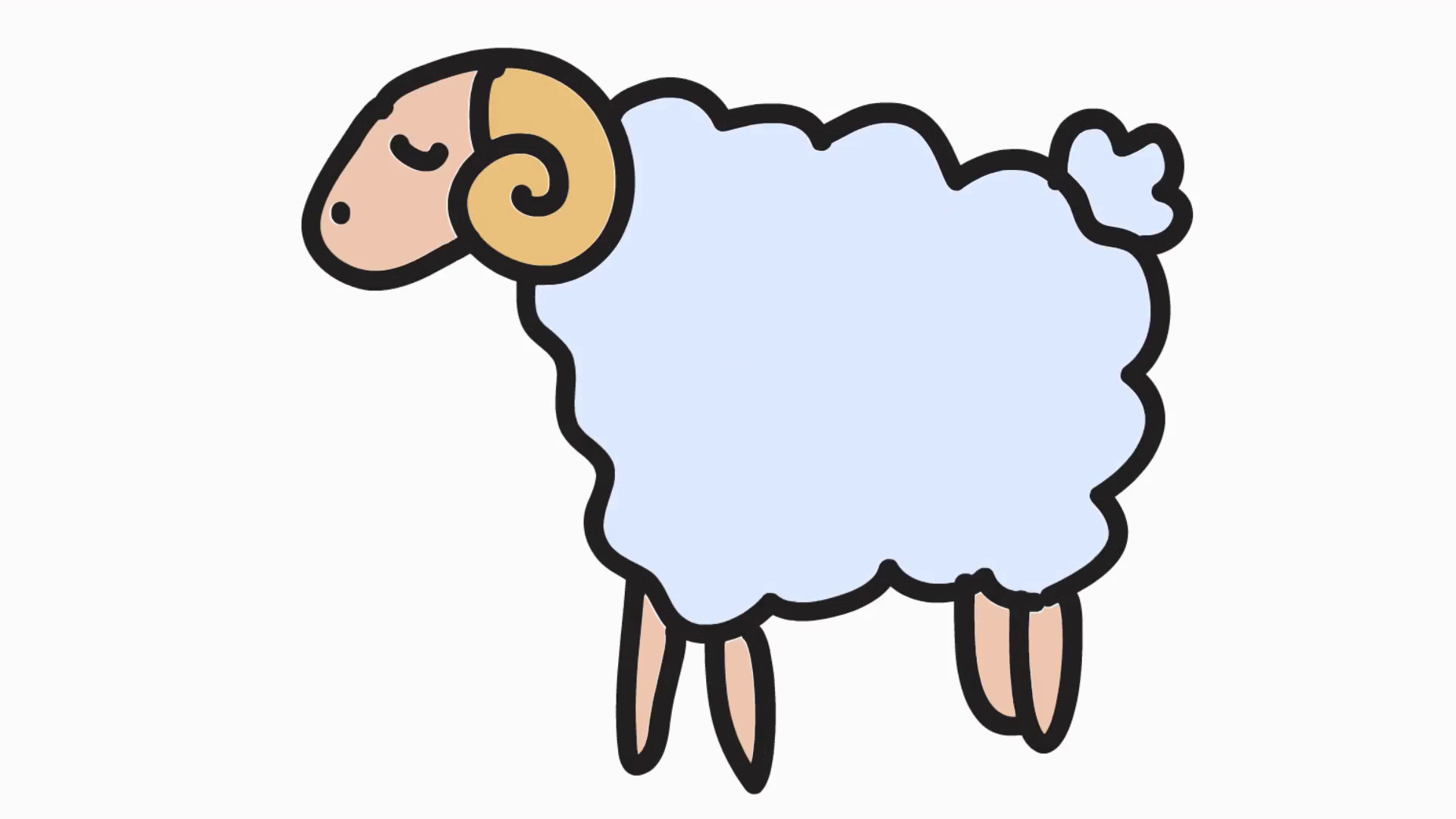 Sheep clipart transparent background. Animation with motion videoblocks
