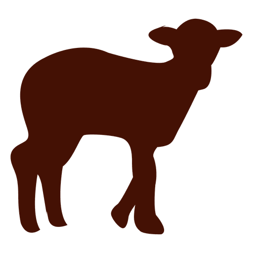 Sheep silhouette png. In red transparent svg