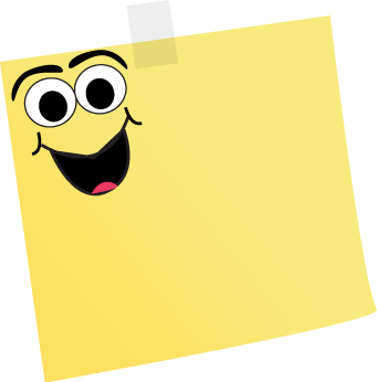 Sticky clipart animated. Art supplies cartoon note