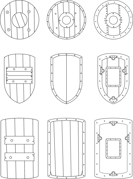 Surgery drawing medieval. Middle ages knight shield