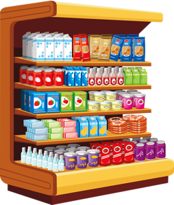 Shelf vector store. Shop pinterest clip
