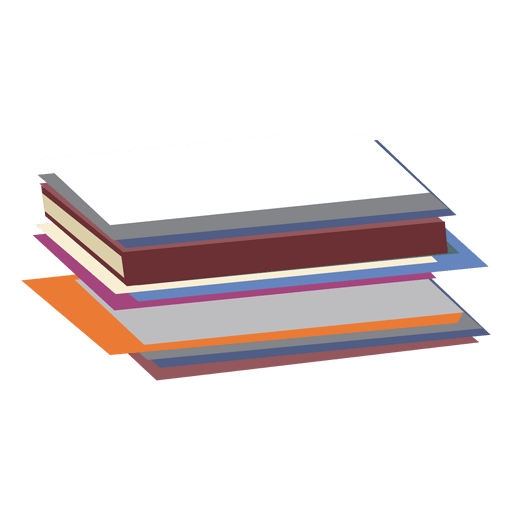 Shelf vector cartoon. Notebooks transparent png svg