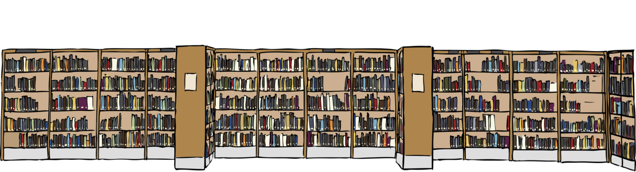 Shelf vector library. Table bookcase furniture free