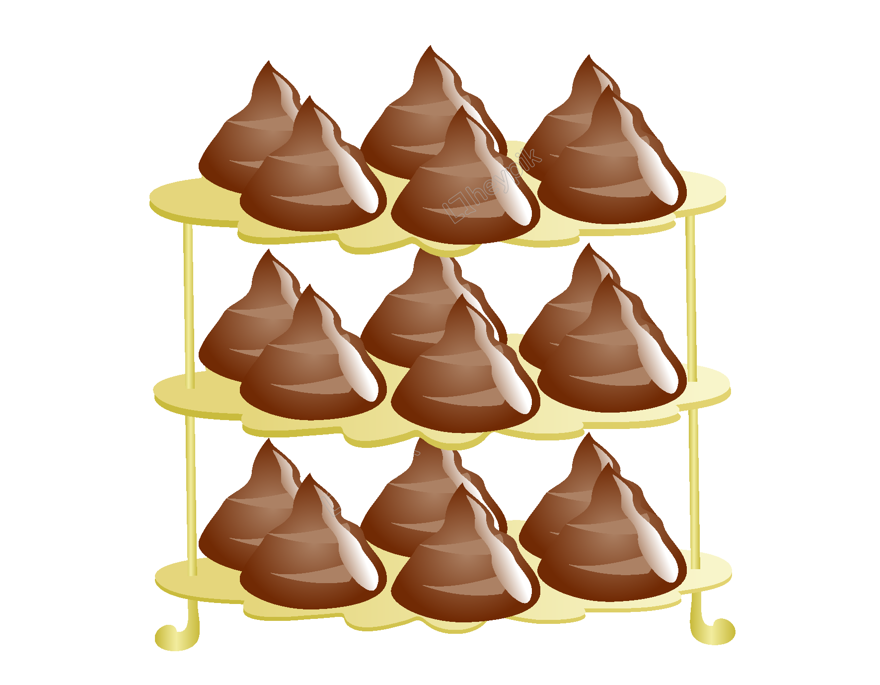 Shelf vector cartoon. Chocolate elements free download