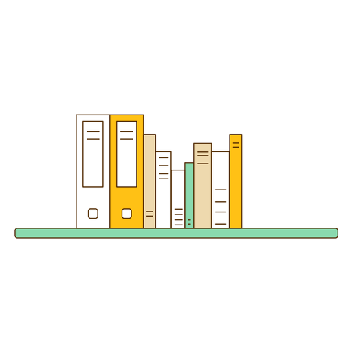 Shelf vector wall. Office bookshelf icon transparent