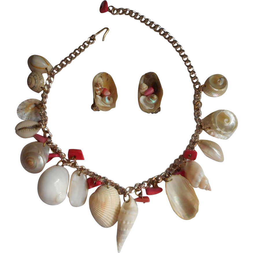 shell transparent necklace