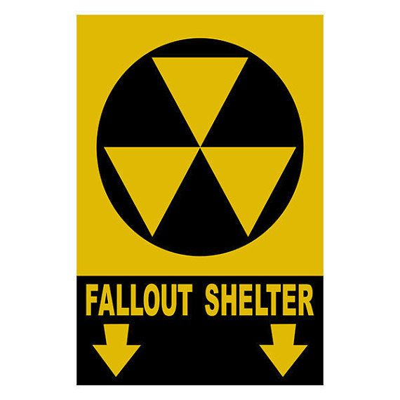 Shelter clipart fallout shelter. Print yourself wall sign
