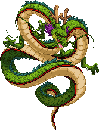 Shenron transparent. Happy new year s