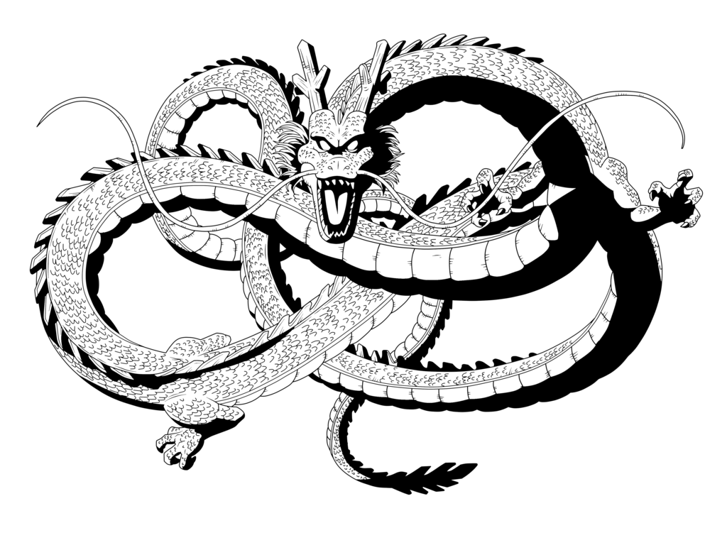 By pedronex on deviantart. Shenron transparent black and white jpg free stock