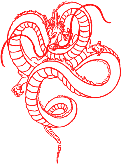 Shenron transparent red. Download hd commission drawing