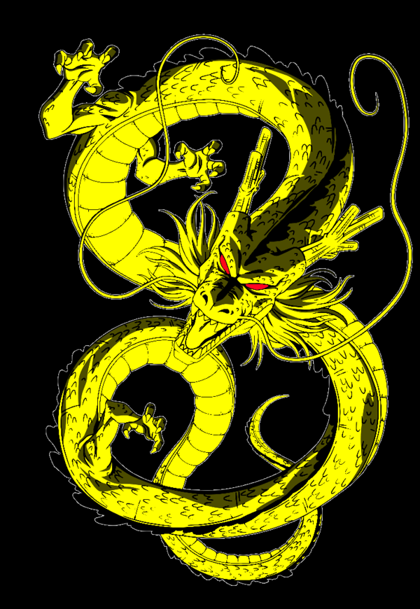 Shenron transparent golden. By shs on deviantart