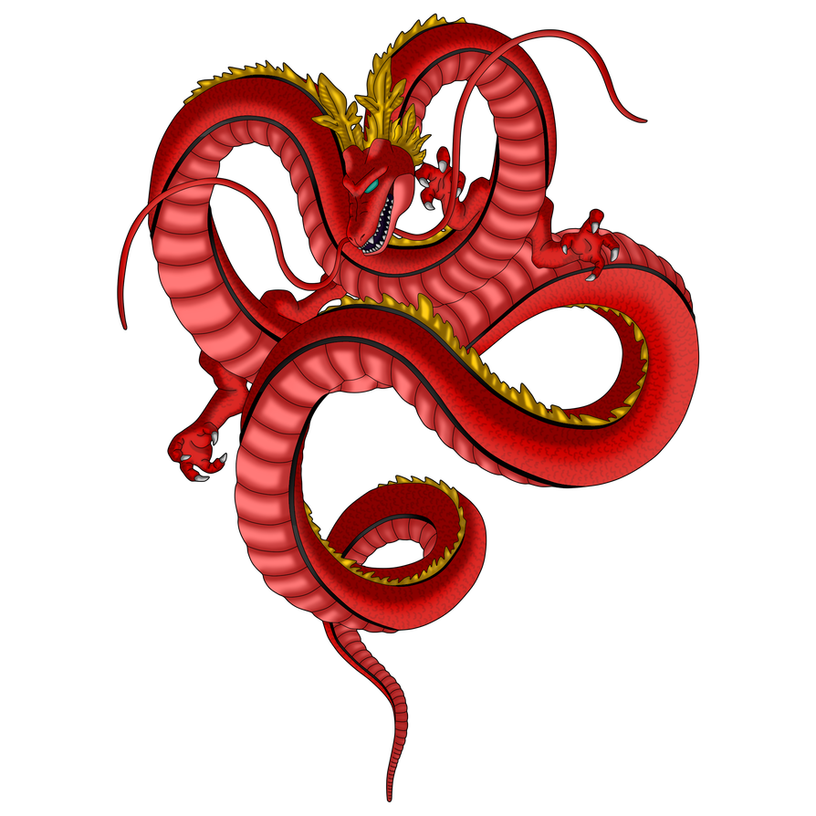 Shenron transparent red. Dragon by byceci on
