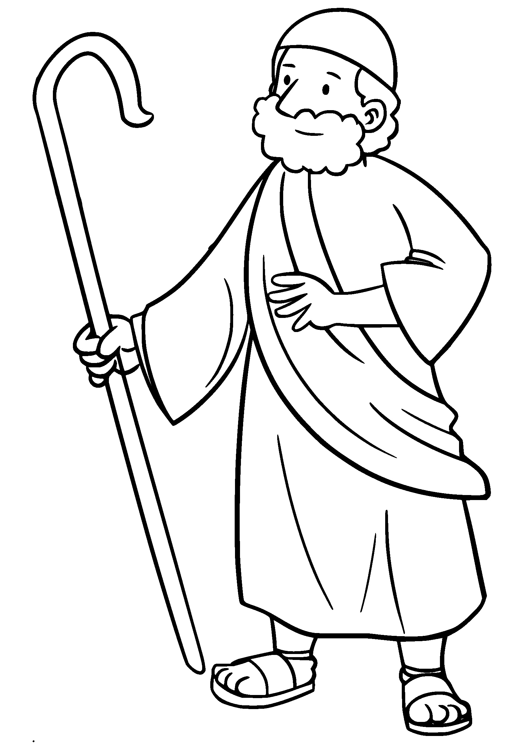 Shepherd clipart black and white. Young holding a lamb