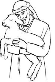 Shepherd clipart black and white. Good coloring page the