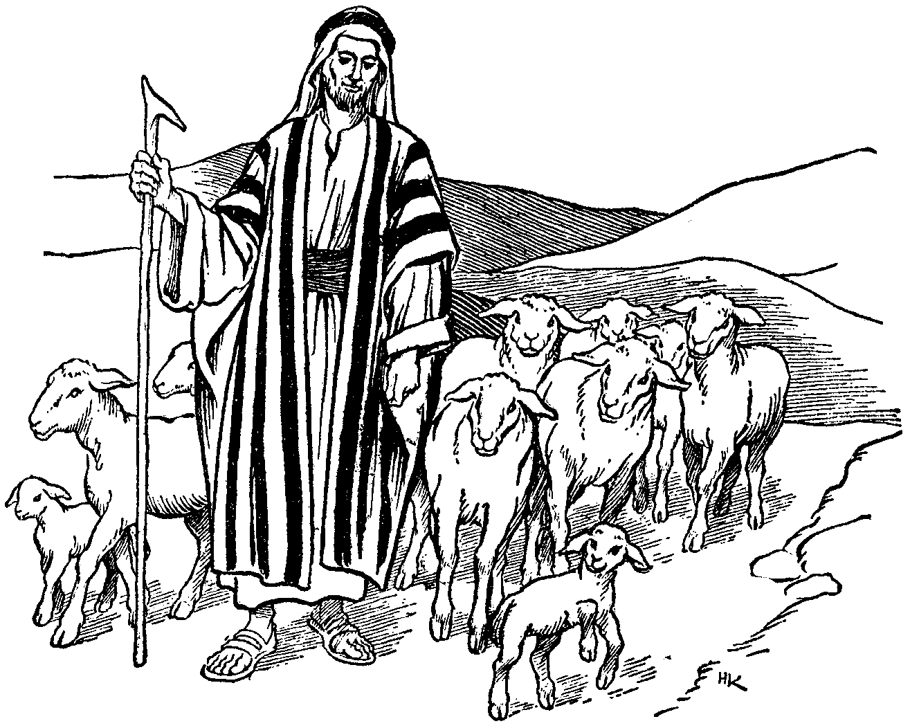 Shepherd clipart stick. New gallery digital collection