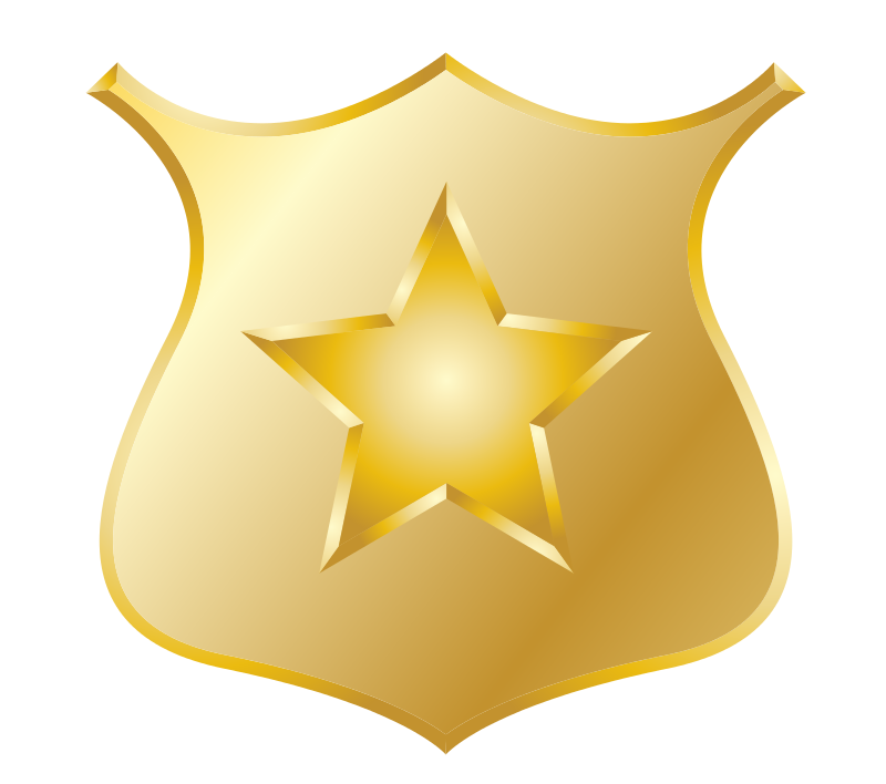 Sheriff badge clipart png. Blue police kid clipartix