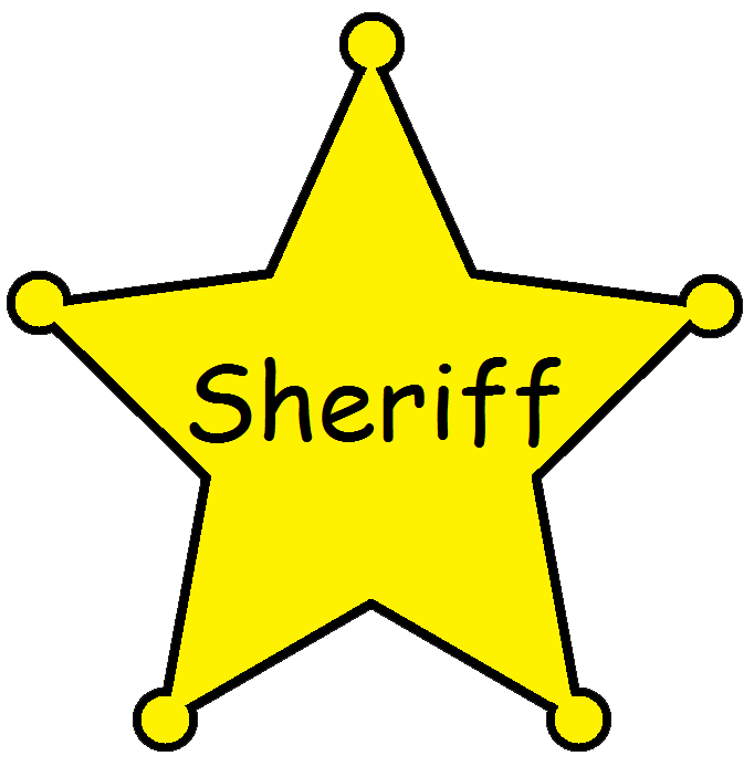 Sheriff badge clipart png. Collection of star