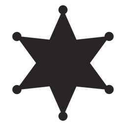 Vector sparkles silhouette. Sheriff badge transparent png