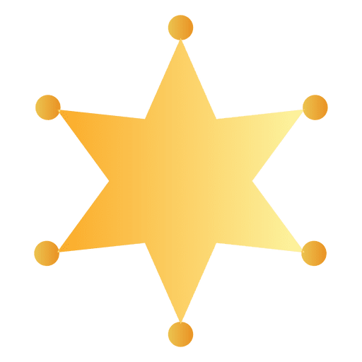 Sheriff badge silhouette png. Transparent svg vector star