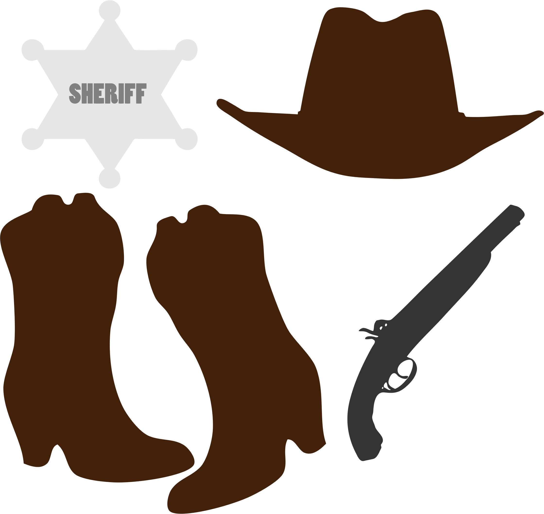 Cowboy clothing and accessories. Western clipart arrow vector freeuse