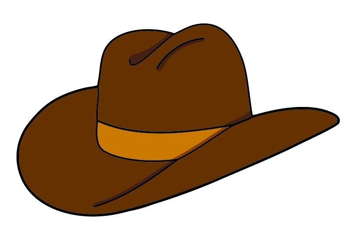 Cowgirl clipart vest. Cowboy hat at getdrawings