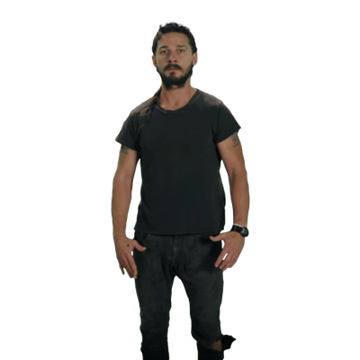 Shia labeouf face png. Just do it transparent