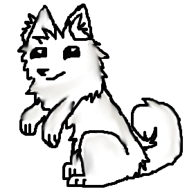 Shibe drawing black. Doge chatlands pose by