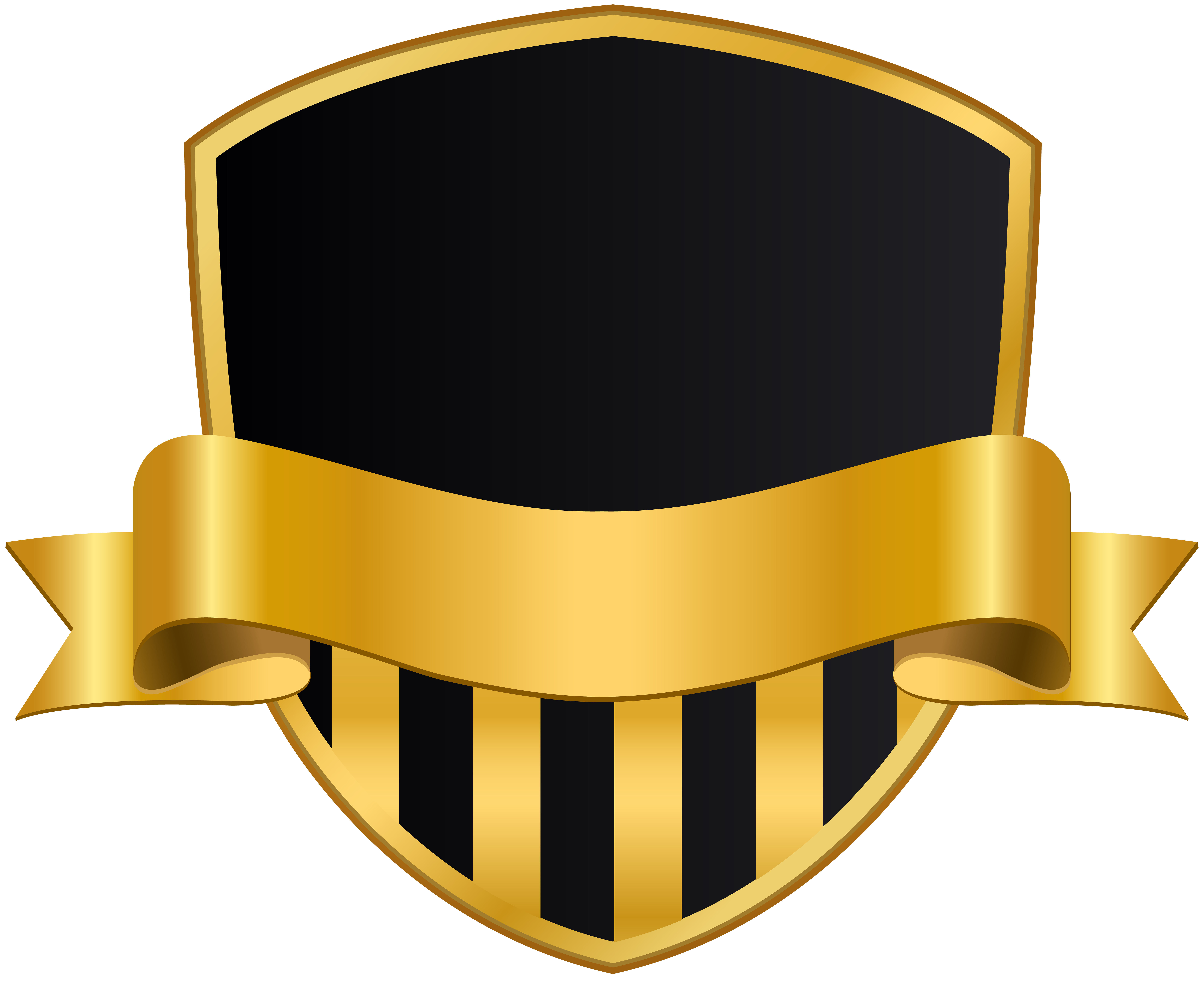 Shield and banner png. Badge with black clip