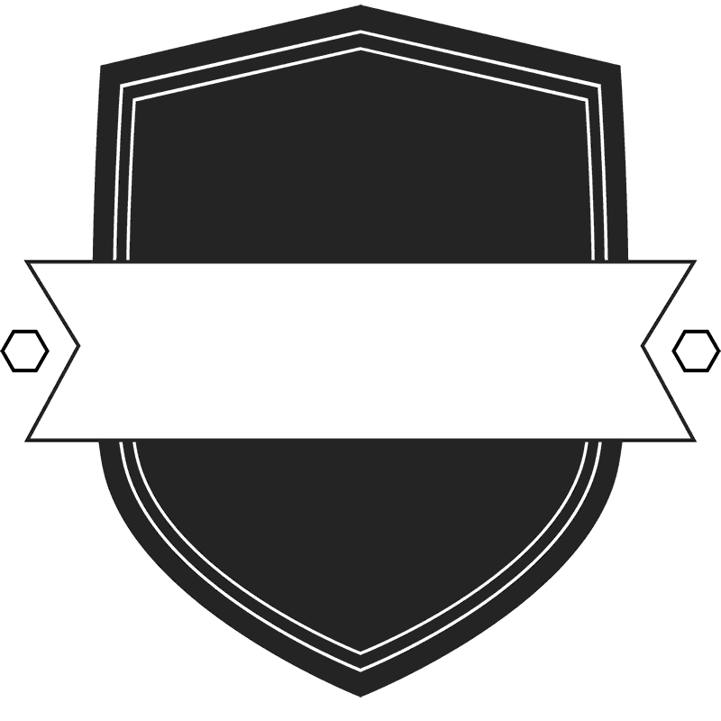 Shield and banner png. Solid rubber stamp border