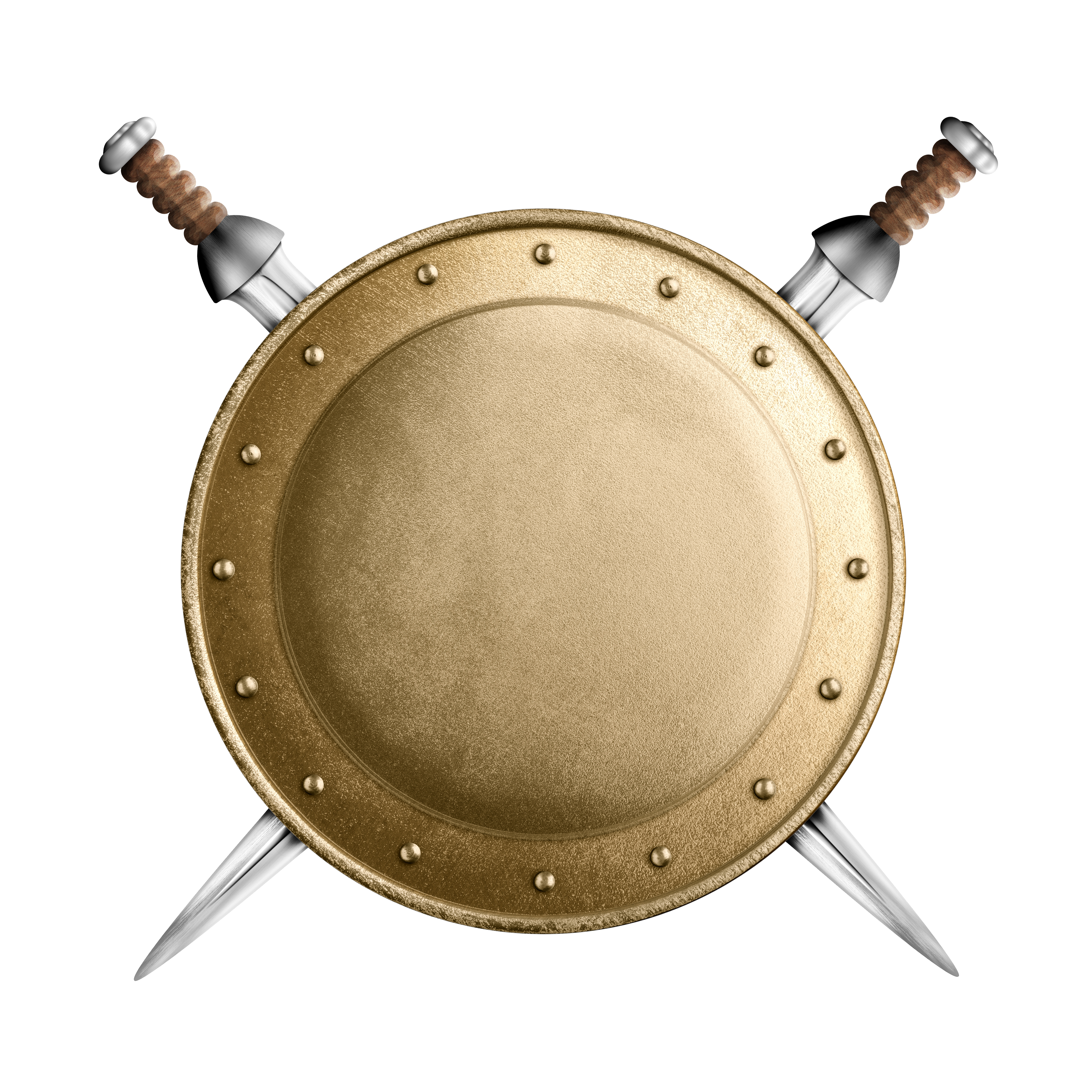 Shield and swords png. Round stock photography illustration