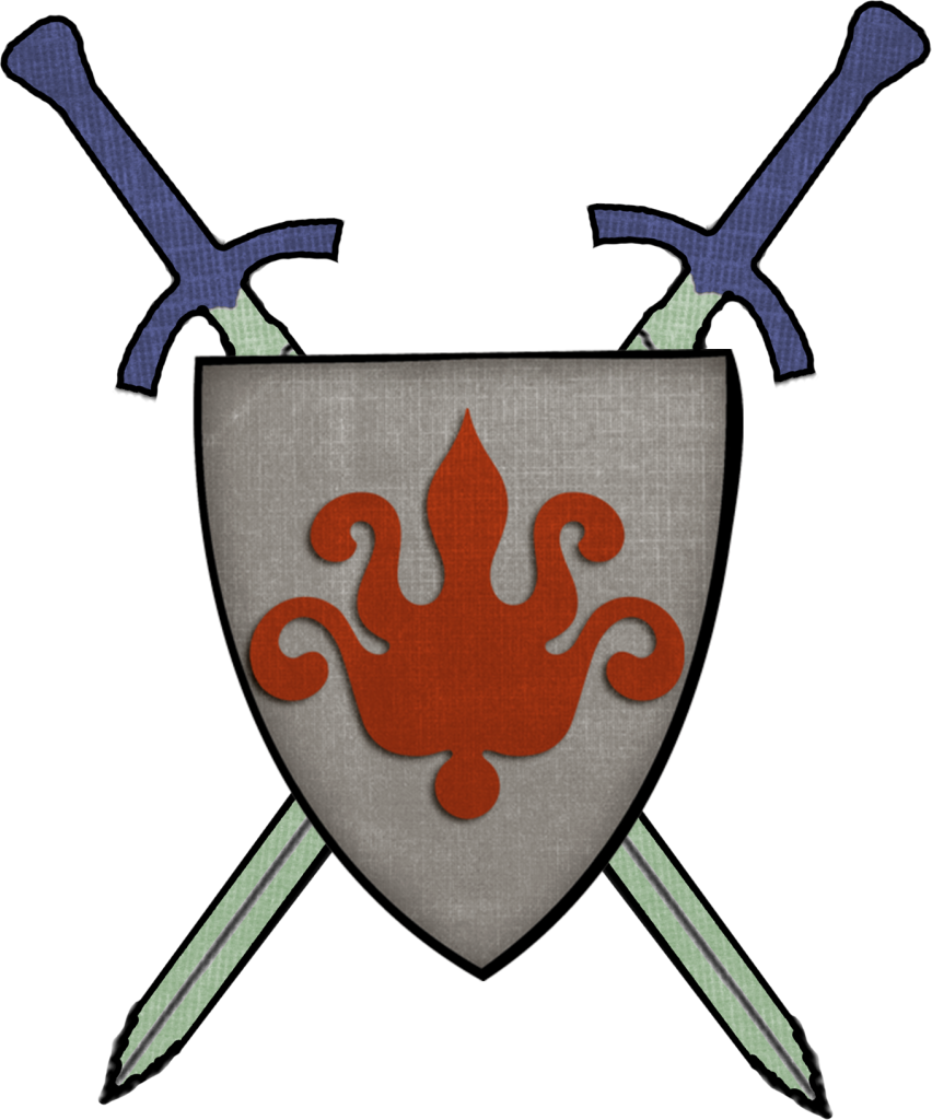 Shield and swords png. Middle ages knight sword