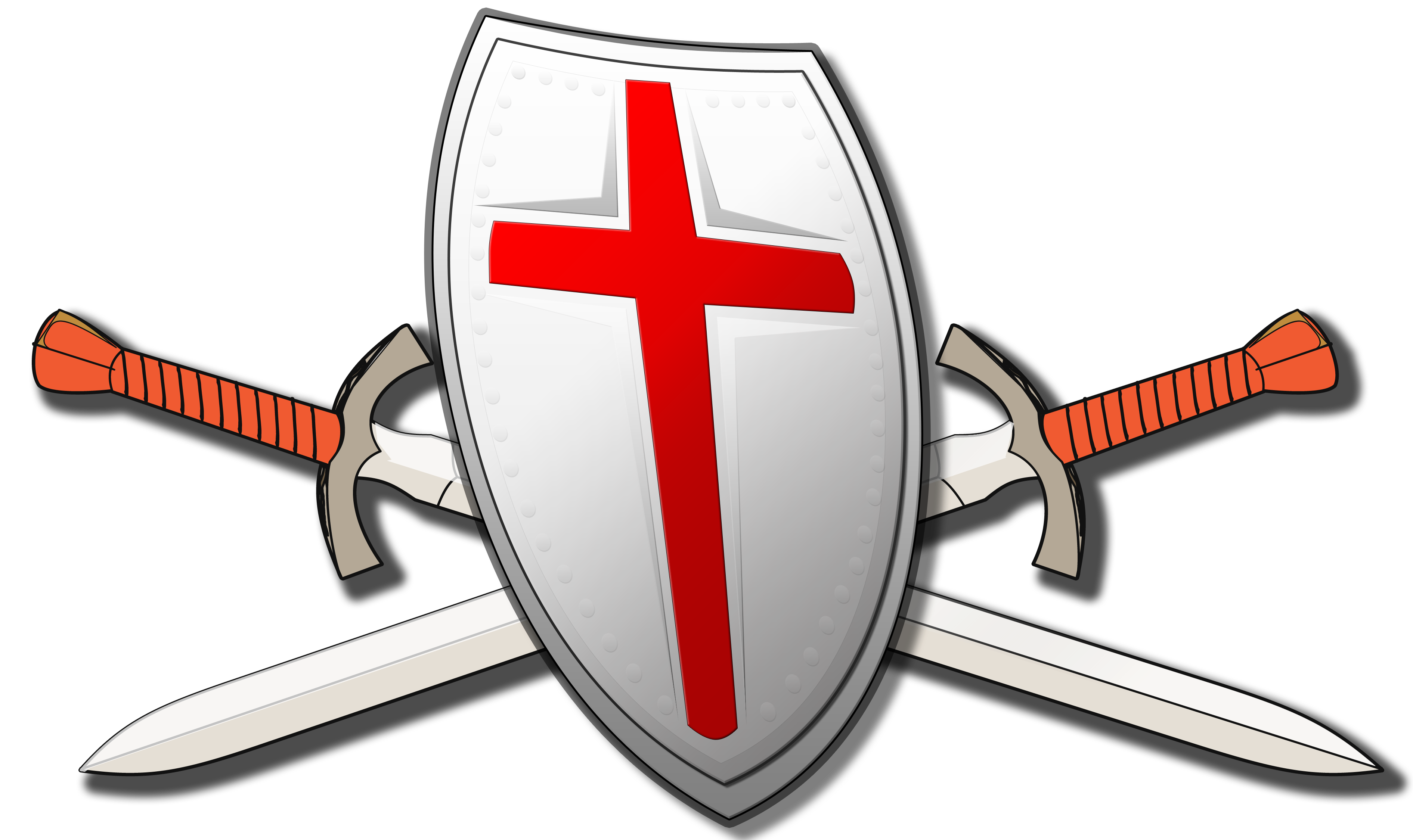 Shield and swords png. About us of faith