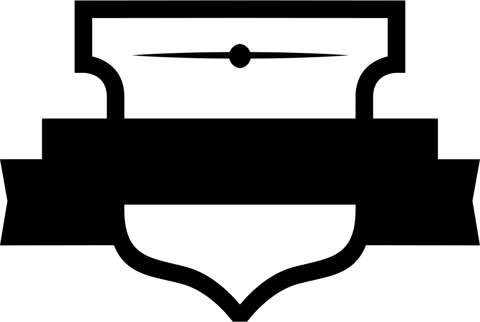 Shield banner png. With svg icon free