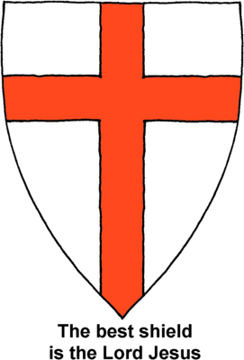 Shield clipart flag. Image with cross christart