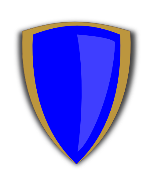 Shield clipart flag. Gold and blue clip