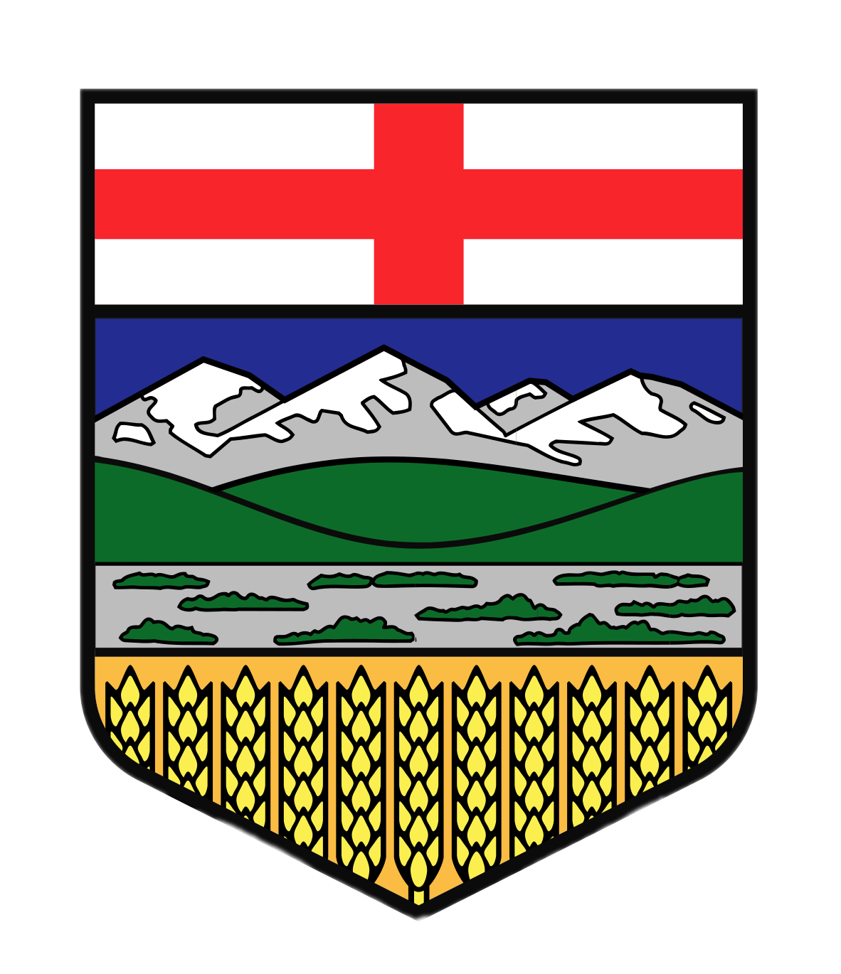 Shield clipart flag. Of arms alberta transparent