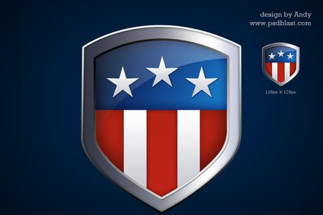 Shield clipart flag. Free american icon and