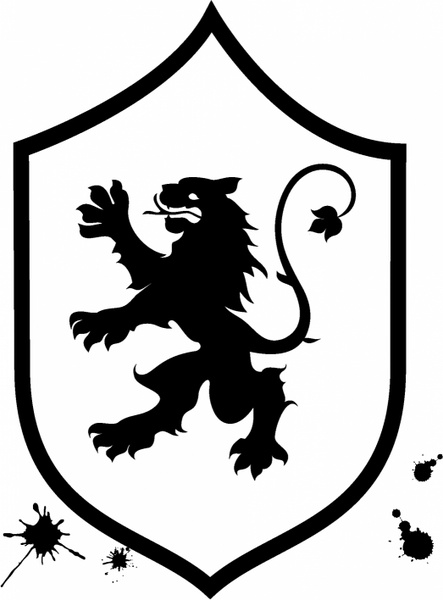 Shield clipart lion. Pencil and in color