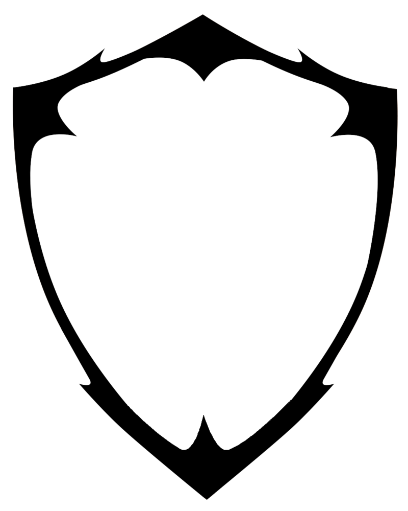 Shield clipart pencil and. Blank family crest png png black and white library