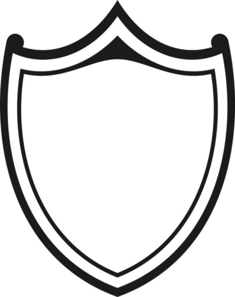 Shield clipart shield outline. Shields outlines free images