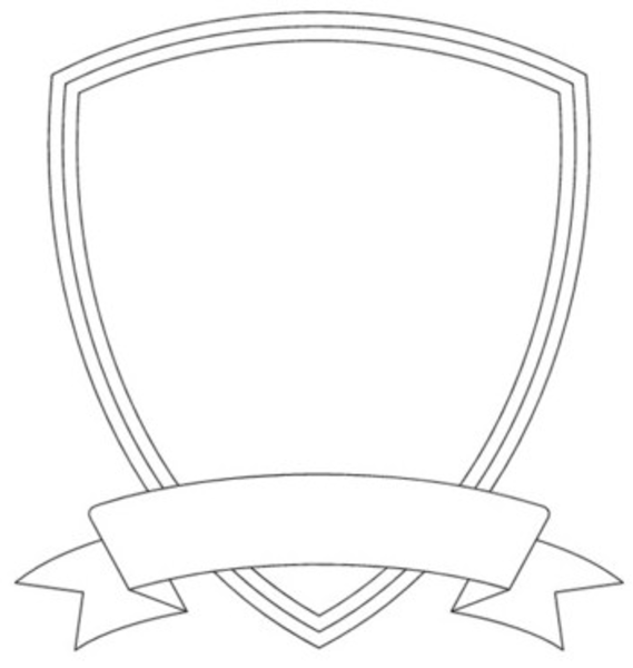 Shield clipart shield outline. Badge template image vector
