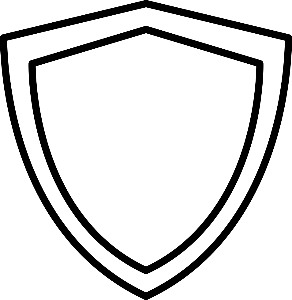Shield outline png. Svg icon free download