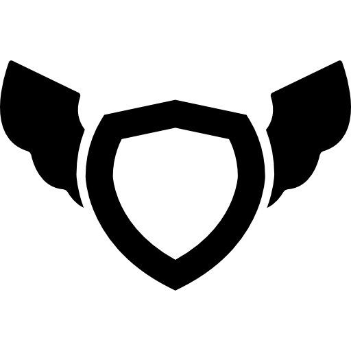 Shield with wings png. Free security icons icon