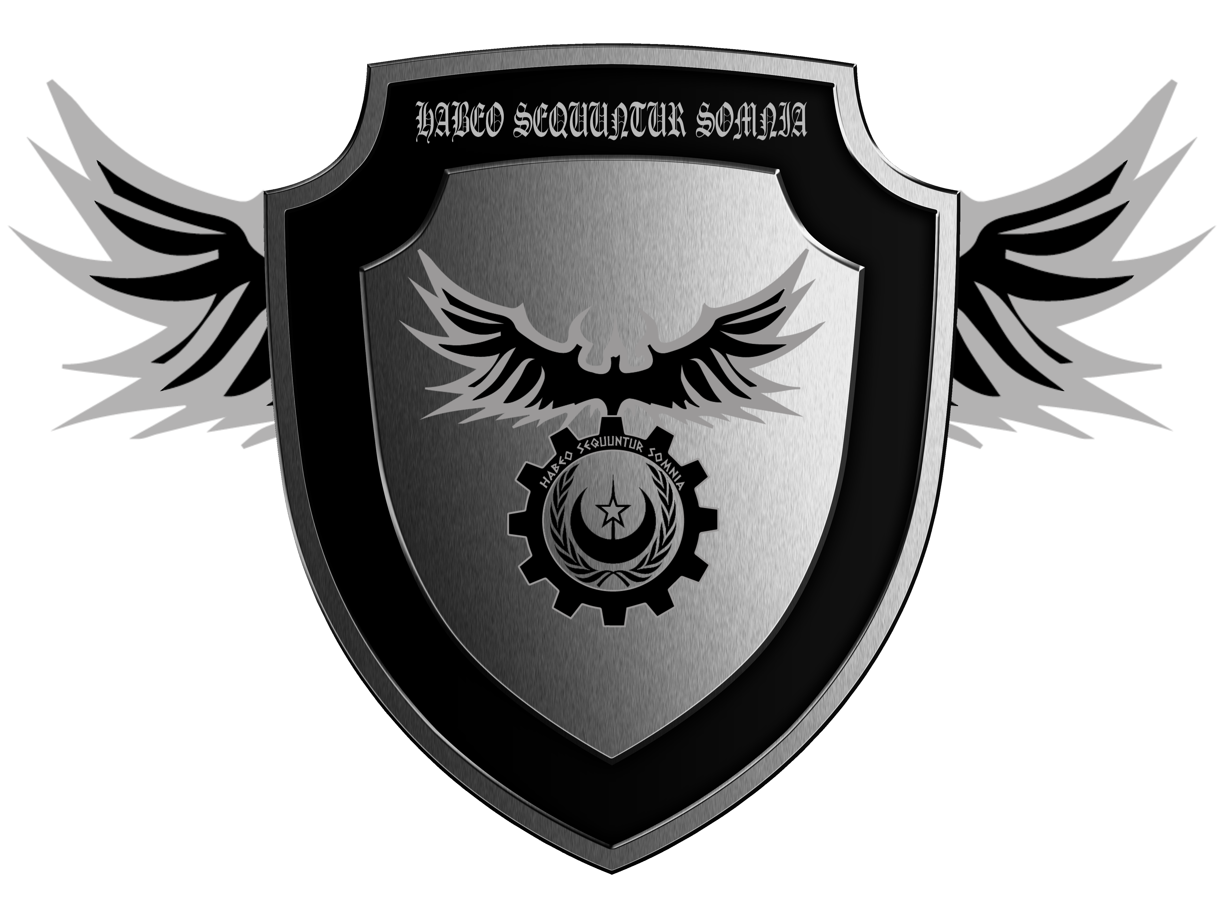 Shield with wings png. Of honor habeo sequuntur