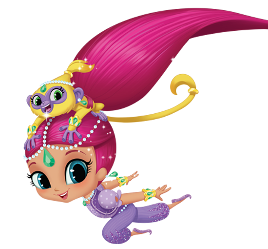 Shimmer and shine clipart. Coloring page best image